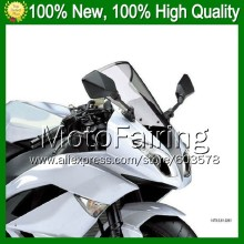 Light Smoke Windscreen For KAWASAKI ZZR250 90-09 ZZR 250 ZZR-250 98 99 00 01 02 03 04 05 06 07 08 09 #*7 Windshield Screen