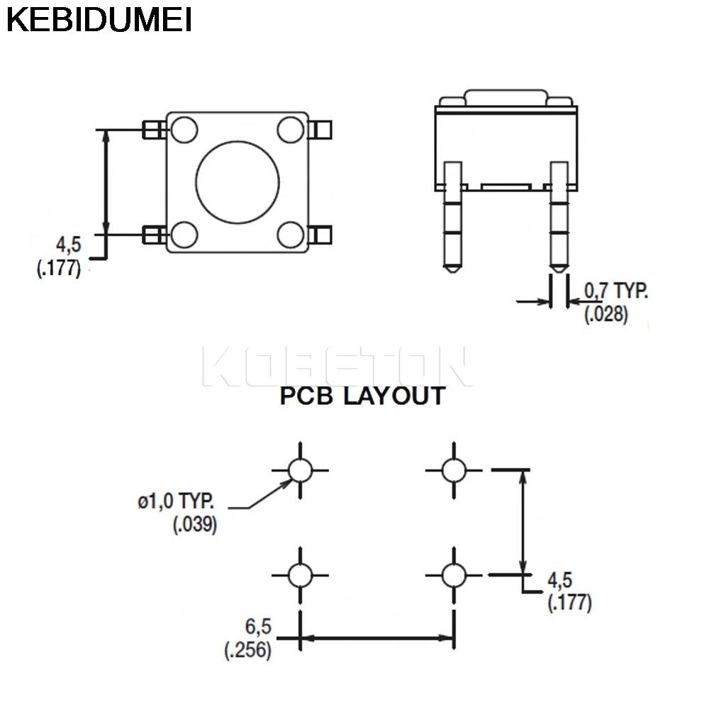 100pcs lot switch 4 pin push button switch tactile tact micro switch 4 pin tactile switch wiring diagram [ 1000 x 1000 Pixel ]