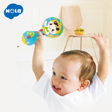 HOLA 3102D Orff Kids Child Baby Castanet Clapper Handle Musical Instrument Toy Preschool Early Educational Hand