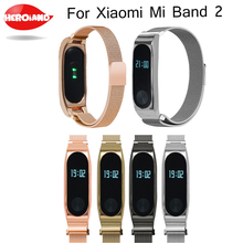 Metal Strap For Original Xiaomi Mi Band 2 Strap Milanese Stainless Steel Bracelet Wristbands Replace Accessories For Mi Band 2 mijobs mi band 2 strap metal bracelet screwless stainless steel bracelet wristbands replace accessories for xiaomi mi band 2