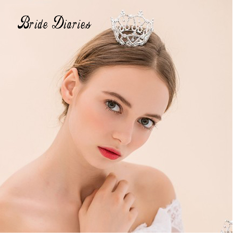 girls small Crowns rhinestone heart tiaras Korean bride Princess Crown childrens gifts wedding accessories A0020