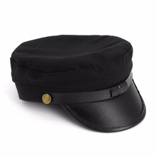 Octagon Yacht Captain Hat Sailor Skipper Boat Party Costume Police Sheriff Cap