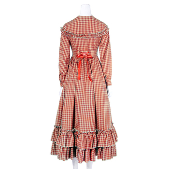 ROLECOS 2018 New Arrival Minimalist Style Solid Women Dress Cotton Medieval Renaissance Women Costume Party Dresses 2