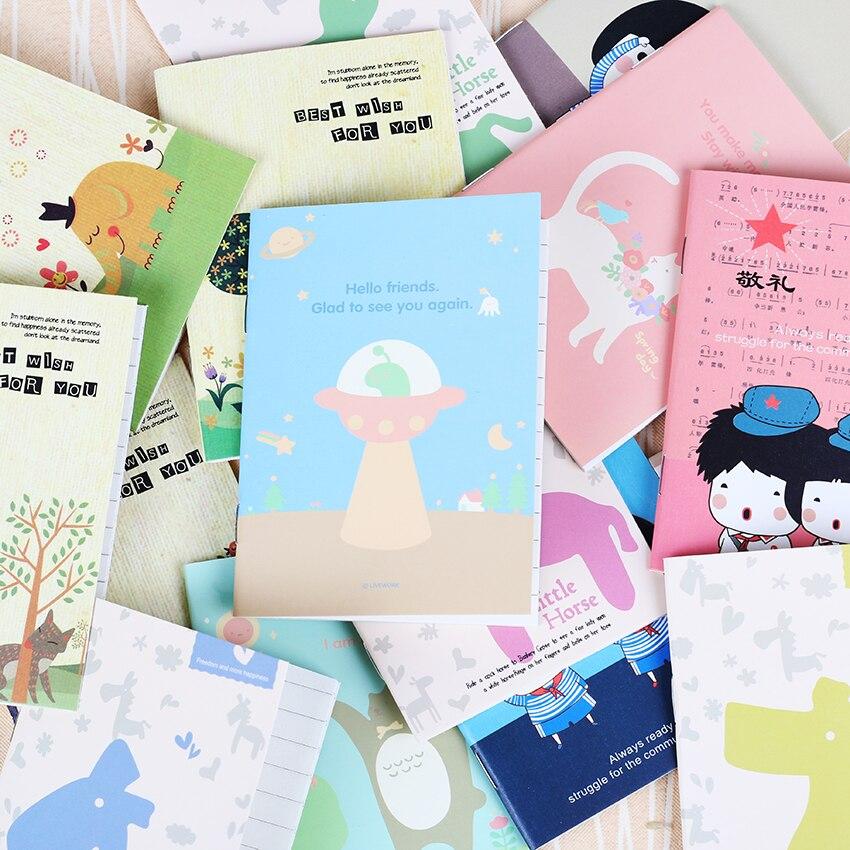 1 шт.. Корейская Милая Канцелярия мультфильм блокнот для учебы детский ноутбук легко носить с собой ноутбук