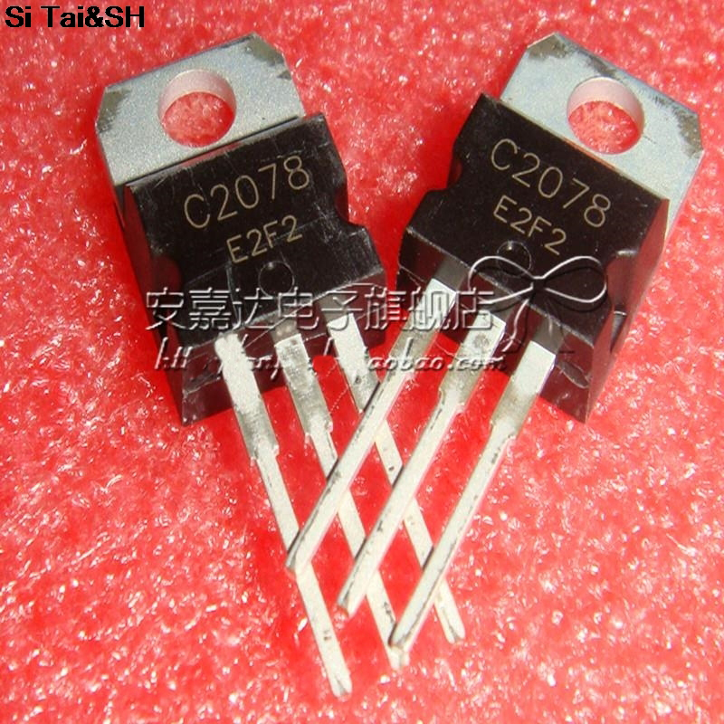 5pcs/lot  NPN Transistor, 27MHz RF  Amplifier 2SC2078 C2078 TO-220 Original Product