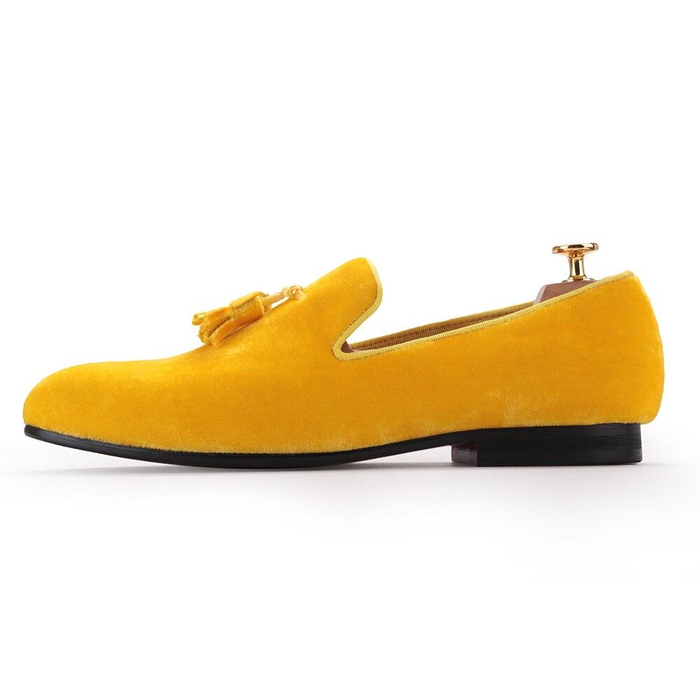piergitar new men velvet shoe with velvet tassel party and