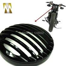 Черный 5 »Мотоциклов Мотоцикл Передняя Фара Крышка Гриль Решетка Рамка для Harley Sportster XL 1200 XL 883 Алюминиевых заготовок