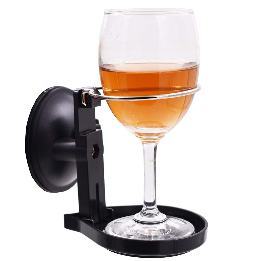 Suction Cup Bath & Shower Cup Holder For Beer & Wine Drink Fit Drinks Up To 2.7
