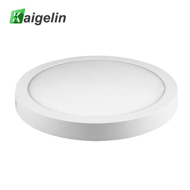 kaigelin 2 PCS/LOT Round LED Panel Light 6W 12W 18W 24W Ceiling Lights AC 85-265V