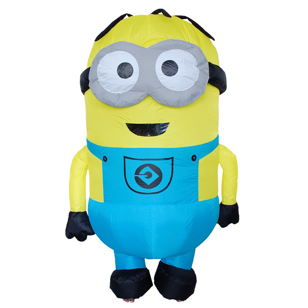 2018 Inflatable Minions Halloween Despicable me little yellow man mascot costume clothing for adults moveable cartoon clothing
