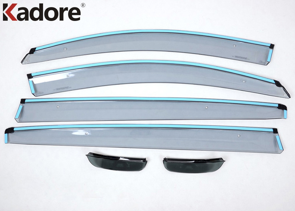 For KIA Sportage 2010 2011 2012 2013 2014 Plastic Window Deflector Visor Rain Sun Guard Vent + Side Door Mirror Awnings Shelters chrome stris window visor sun shade vent guard deflector for mitsubishi asx rvr outlander sport 2010 2011 2012 2013 2014 2015