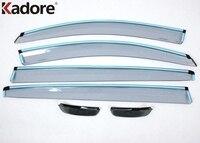 Para KIA Sportage 2010 2011 2012 2013 2014 Janela Defletor de Plástico Visor Chuva Sun Guard Ventilação + Porta Lateral Espelho Toldos Abrigos