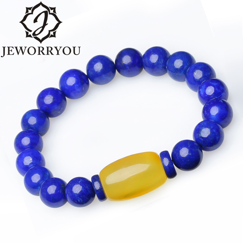7-10mm Natural Amber Lapis Lazuli Natural Stone Bracelet Men Southern Red Agate Bead Bracelet Women black agate bead bracelet 17cm