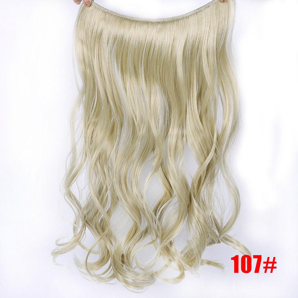 """SHANGKE 2"""" флип-на проволоке в синтетическом скрытом невидимом не клип в головном повязке прямые высокотемпературные волокна для наращивания волос - Цвет: #33"""