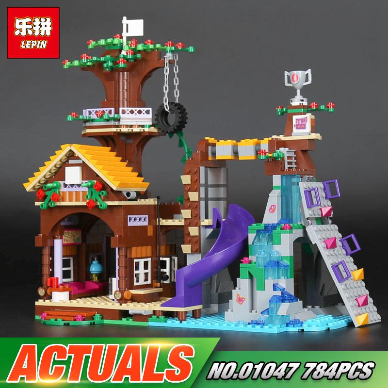 New Lepin 01047 Girls Series The 41122 Adventure Camp Tree House Good Set Model Building Blocks Brick Toys For Kids As Gifts конструктор lepin спортивный лагерь дом на дереве 784 дет 01047