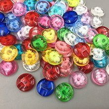 CNCRAFT, 50 шт., прозрачные, 12 мм, Детские Пришивные пуговицы, полимерная пряжка, конфетные, красивые, разноцветные, аксессуары для пуговиц, для детей, сделай сам