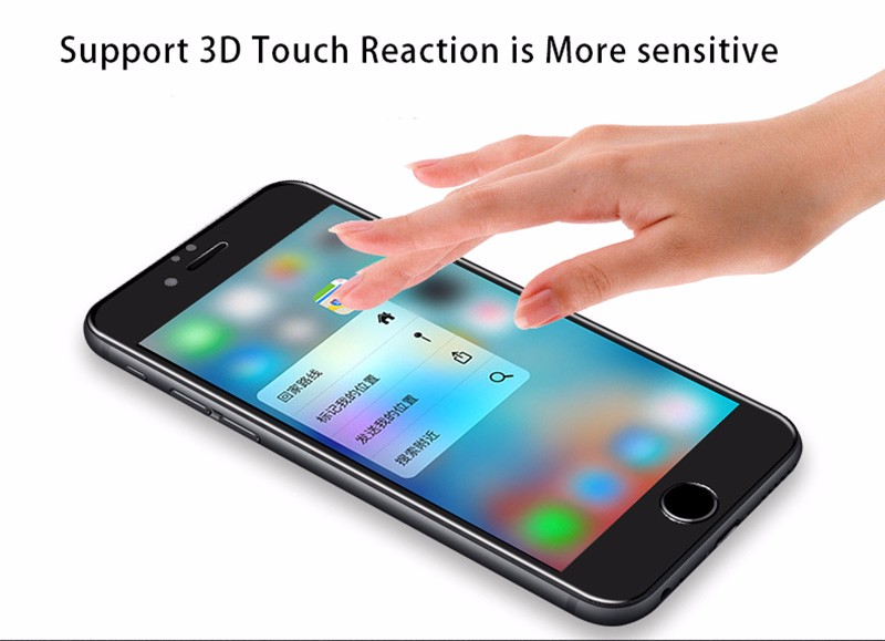 4D Round Curved Edge Tempered Glass For iPhone 6 6s Plus 7 8 X Full Cover Screen Protector Premium 4D Protective TOMKAS