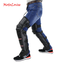 Motorcycle Warm Kneepad Legs Warmer Motorbike Scooter Knee Pads Ridding Windproof Winter Outdoor PU Leather Waterproof 2 Pcs/Lot