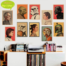 The profile of Star Wars characters Posters home decor kraft paper Painting wall stickers