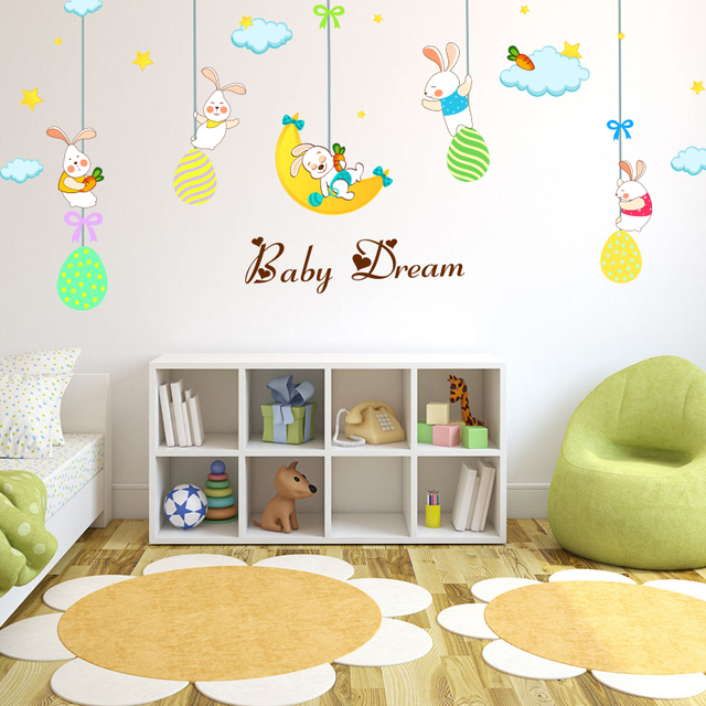 DIY Wall Stickers Baby Dreams For Kids Girls Room,Wall Decals ...