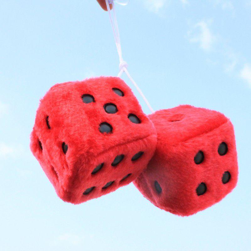 Автомобильные украшения-игральные кости разноцветная милая плюшевая игральная кость клейкий диск зеркало автомобиля Haning подвеска Украшение автомобиля брелок украшения - Название цвета: Красный