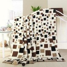 Barato venta Caliente de Alta calidad 200×230 cm a cuadros marca throw Manta súper suave mantas de lana en la cama a cuadros de invierno colchas