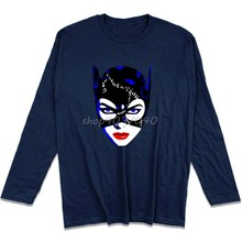 2df9820ce New Spring autumn Casual Print Men Cotton Tee Shirts Michelle Pfeiffer  Catwoman Casual T-Shirt