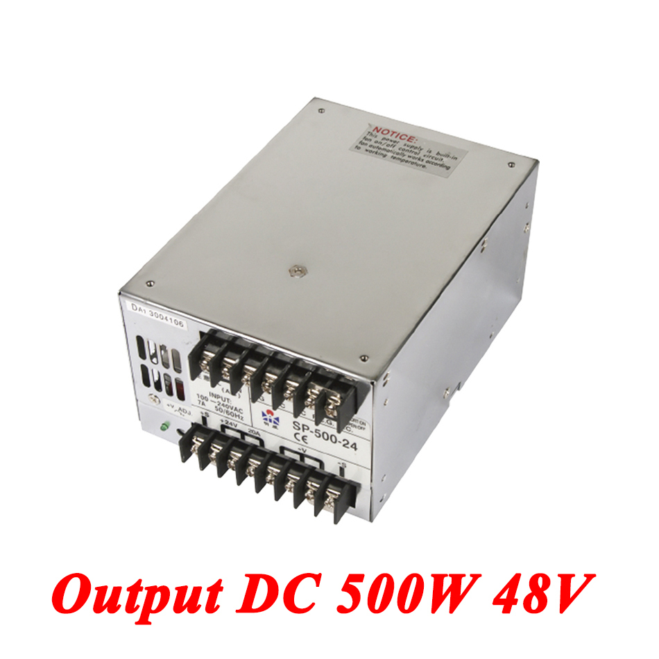 SP-500-48 PFC Switching Power Supply 500W 48v 10.4A,Single Output Industrial-grade Power Supply,AC110V/220V Transformer To DC 48