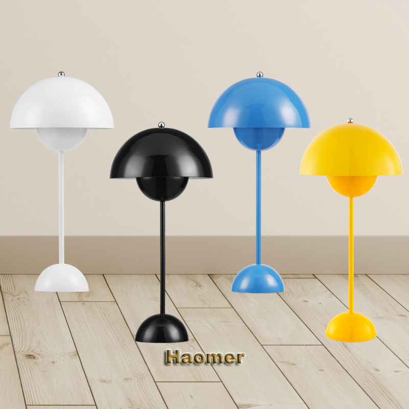 Us 89 25 15 Off Creative Ufo Table Lamp White Black Red Yellow Blue Verner Panton Flowerpot Desk Lights In Lamps From Lighting