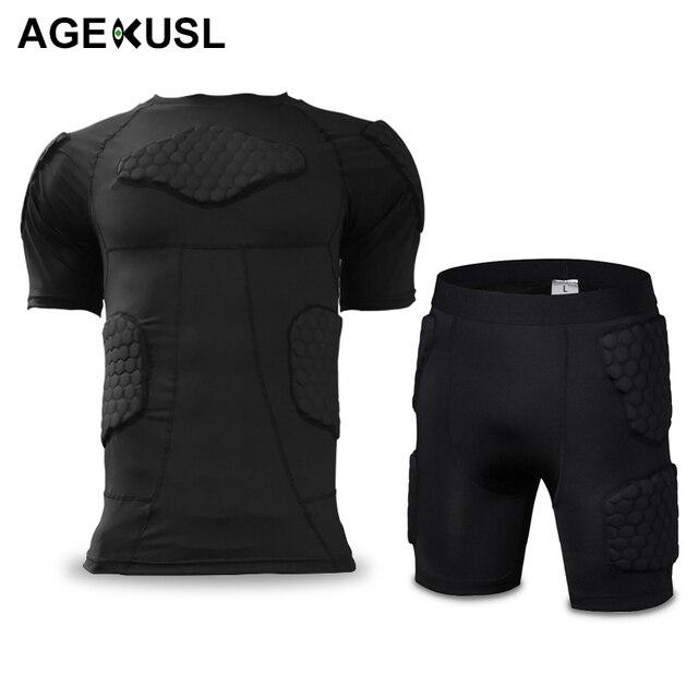 Camiseta de compresión acolchada deportiva para hombre AGEKUSL Protector de  costilla para fútbol baloncesto Paintball Ciclismo e1a5889884da4