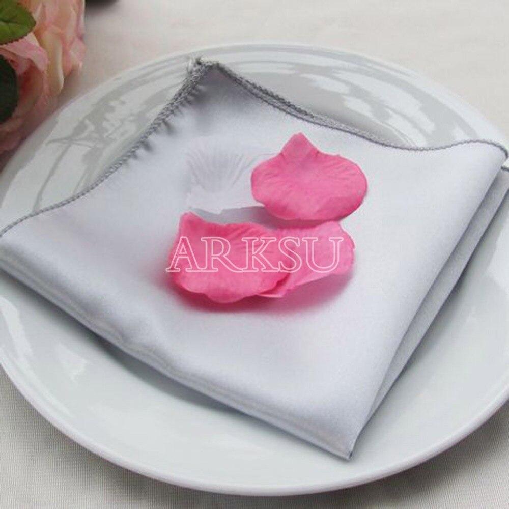 12*12\'\' Satin Table Dinner Napkin Men Pocket Handkerchief Wedding ...
