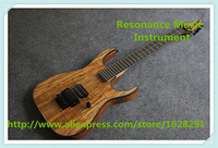 China Custom Shop Natural Wood Grain Finish Electric Guitars With Black Floyd Rose Tremolo For Sale