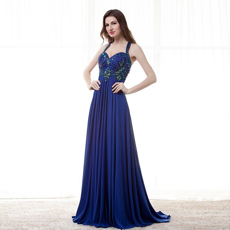 Robes De soirée De mariage bleu Royal longues dos nu Abendkleid Langarm robe De paon Traje De Gala femmes enceintes grande taille