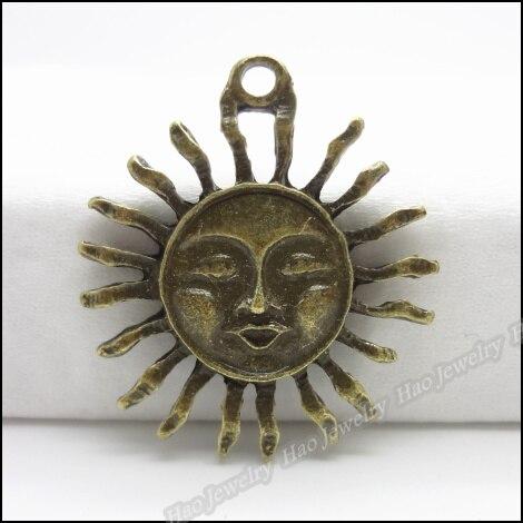 6 шт. винтажная подвеска в виде античного солнца из цинкового сплава подходит для DIY браслета, ожерелья, металлические ювелирные аксессуары