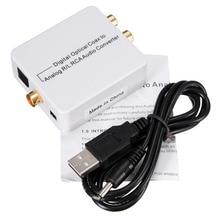 Цифро-Аналоговый Аудио Конвертер Адаптер HI-FI оптический Коаксиальный Toslink в Аналоговый L/R RCA аудио конвертер + usb 5 В DC Кабель Питания