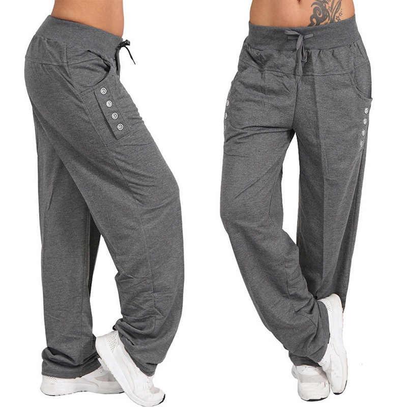 95ddc3dd4782a6 ... Women Fashion Loose Pants Casual Trousers Harem Pants S-5XL Drawstring  Waist Baggy Pants Plus ...