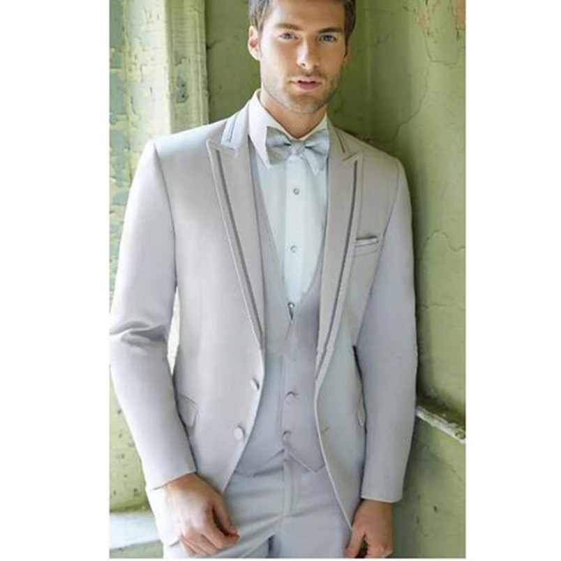 New Arrival Wedding Suits Custom Made Men's Suit Wedding Tuxedos Best Man Business Formal Weear (jacket+pants+vest)