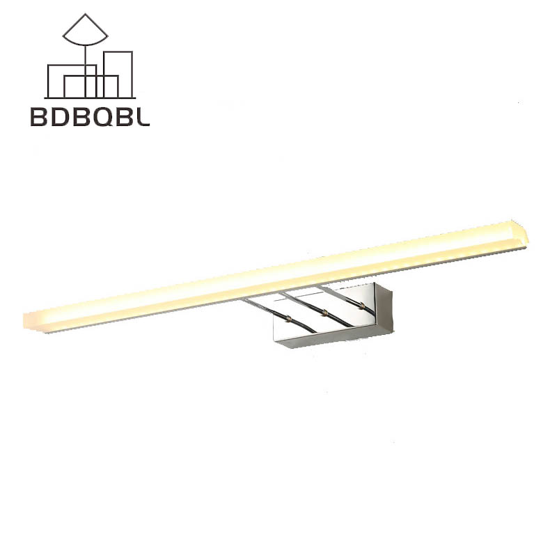 BDBQBL Mirror Wall Lamps Bathroom Modern Simple Waterproof Anti-fog Telescopic Long Mirror Wall Light 40cm/60cm/80cm/100cm/120cm 40cm 12w acryl aluminum led wall lamp mirror light for bathroom aisle living room waterproof anti fog mirror lamps 2131