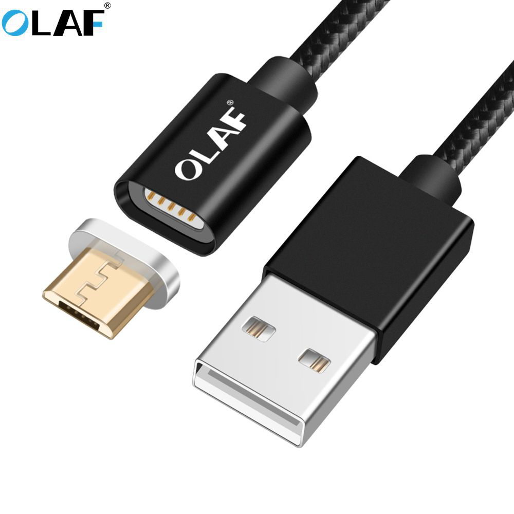 Mobile Phone Cables Olaf Magnetic Cable Usb Type C Cable & Micro Usb Cable Nylon Braided Led Indicator Data Sync Magnet Charger Cable For Samsung S9 Beautiful In Colour Cellphones & Telecommunications