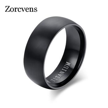 ZORCVENS moda męska czarny tytanowy pierścień matowy wykończony klasyczny zaręczynowy Anel biżuteria dla mężczyzn obrączki tanie i dobre opinie STAINLESS STEEL Mężczyźni Metal TRENDY Zespoły weselne GEOMETRIC Wszystko kompatybilny 13371 Napięcie ustawianie Party