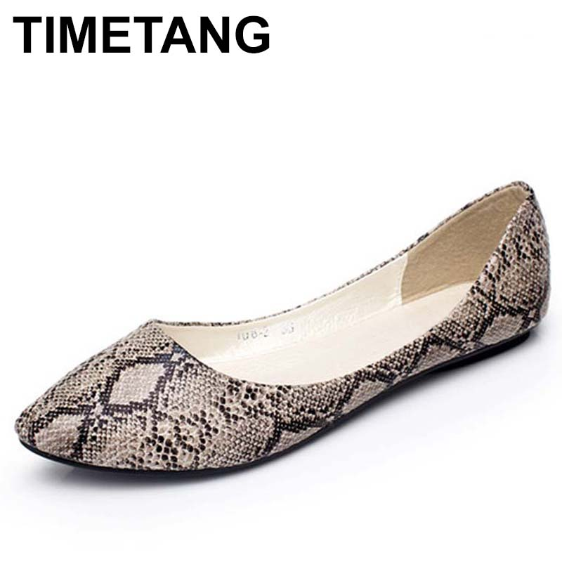 TIMETANG Classic street fashion women all-match comfortable shallow mouth pointed toe single shoes female flat plus size C335 lin king fashion pearl pointed toe women flats shoes new arrive flock casual ladies shoes comfortable shallow mouth single shoes