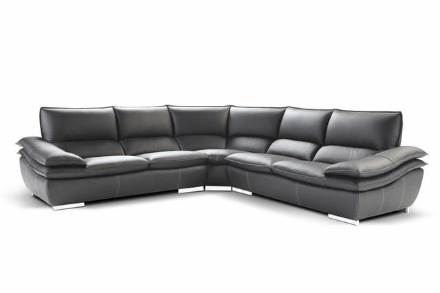Divani per soggiorno con divano ad angolo in pelle per for Divani soggiorno moderni