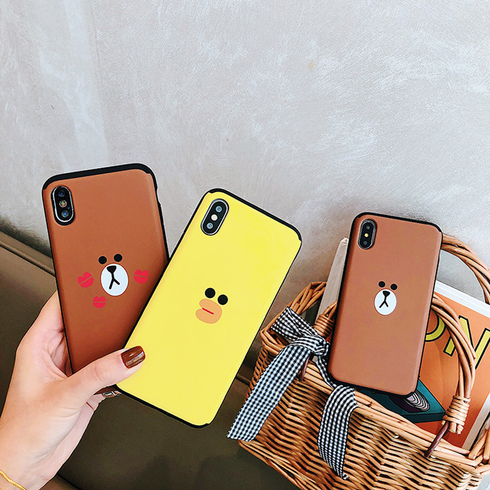 Slide-Phone-Cases-For-iPhone-6-6s-Plus-7-8-X-Xs-Brown-Bear-Make-Up-Mirror-Card-Slot-Silicone-Shockproof-Cute-Cartoon-Covers-SJ15- (5)