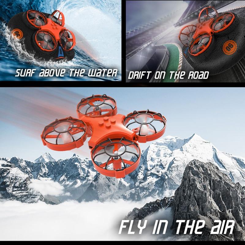 Eachine E016F 3-en-1 EPP avion volant bateau terre Mode de conduite détachable RC Drone quadrirotor pour enfant cadeau 4