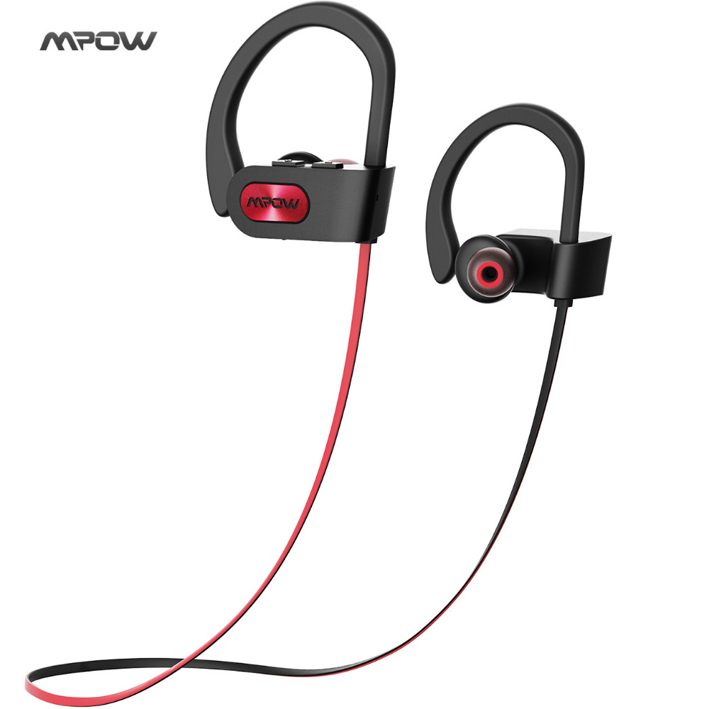 New Mpow IPX7 waterproof Bluetooth Headphones noise canceling wireless headphone bluetooth 4.1 sports earphone earbuds with mic