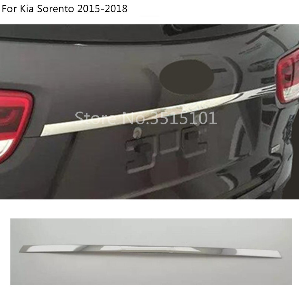 Bâche de voiture acier inoxydable arrière porte arrière fond hayon cadre plaque moulure de garnissage 1 pièces pour Kia Sorento 2015 2016 2017