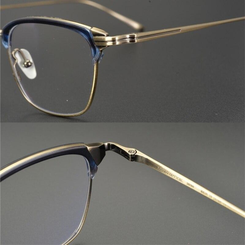限定版ヴィンテージ超軽量純粋な titanium 眼鏡光学フレーム KJ 26 文字台形眼鏡女性男性オリジナルボックス  グループ上の アパレル アクセサリー からの 眼鏡フレーム の中 2