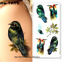 Nu-TATY Peace Swallow Bird 3d Temporary Tattoo Body Art Flash Tattoo Sticker 19x9cm Waterproof Styling Tatoo Home Decor Sticker