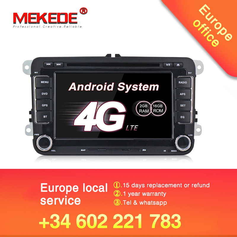MEKEDE 2G RAM Android 7 1 2 DIN Car DVD player For Passat POLO GOLF Tiguan