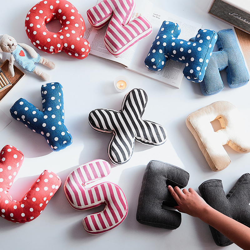 Hand-Pillow Car-Decorate-Cushion Wedding-Ornament Office Cute Letter Super Home Suspensible